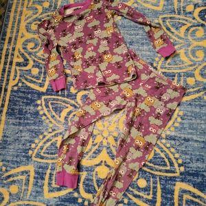 5/$10 Girls Size 8 Owl Purple 3 Piece PJ Set